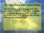 the living stone and a chosen people83