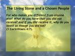 the living stone and a chosen people88
