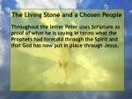 the living stone and a chosen people99