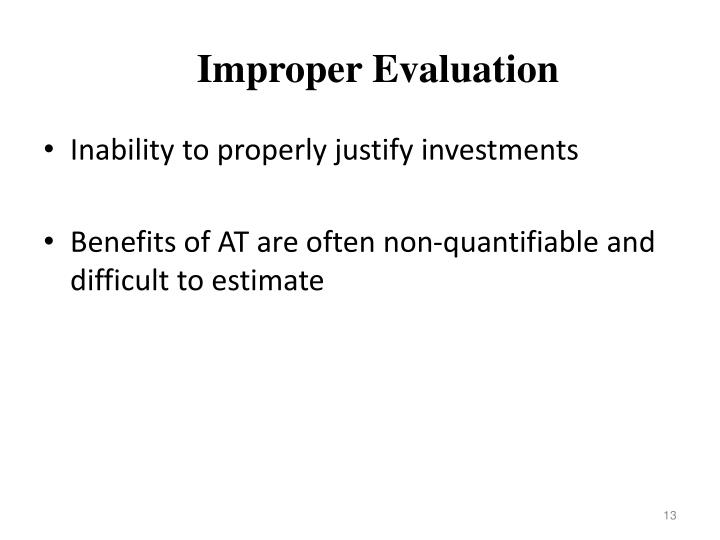 Improper Evaluation