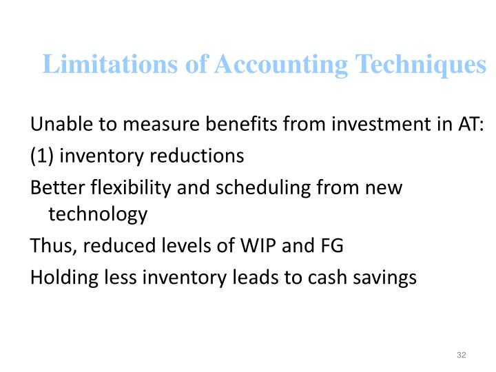 Limitations of Accounting Techniques
