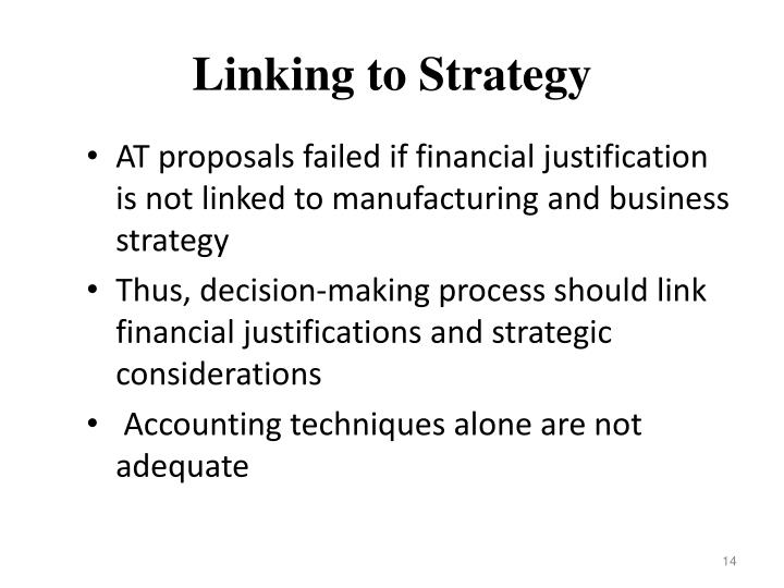 Linking to Strategy