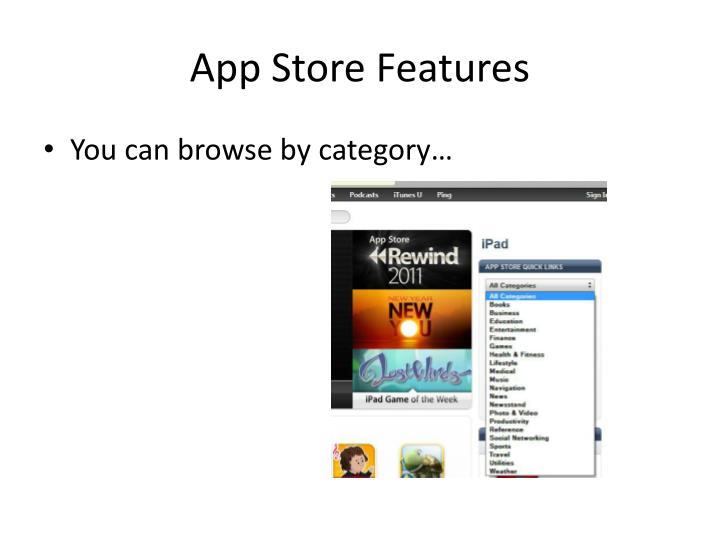 App Store Features