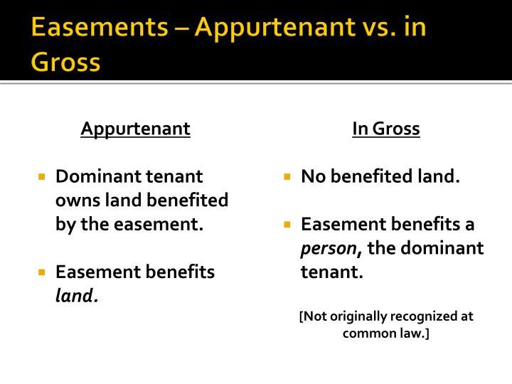 Easements – Appurtenant vs. in Gross