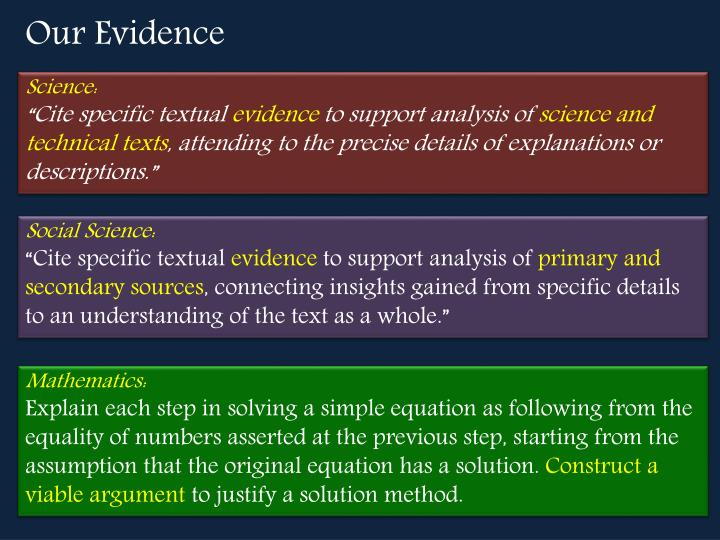 Our Evidence