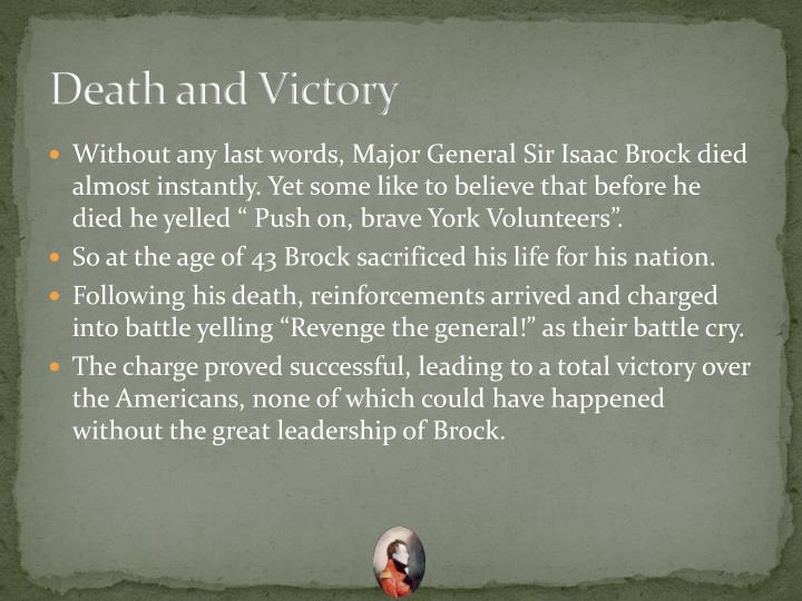 Death and Victory