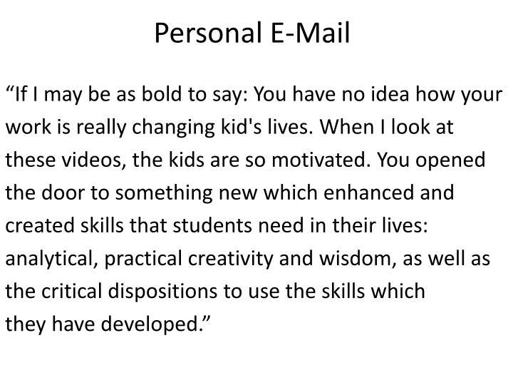 Personal E-Mail
