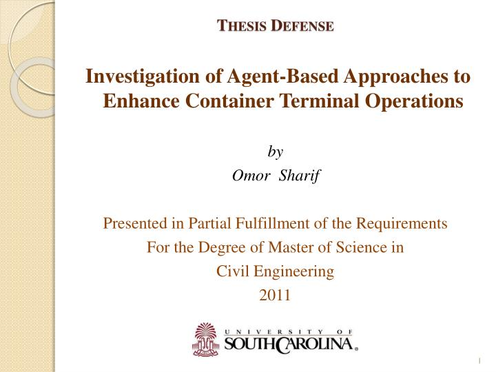 Defense Thesis