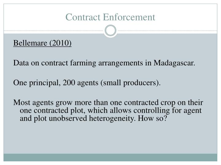 Contract Enforcement