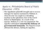 ayala vs philadelphia board of public education 1973