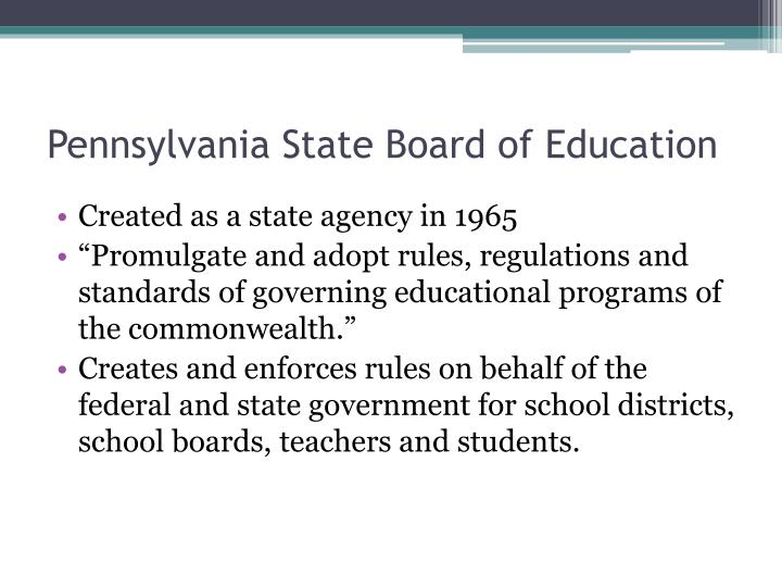 Pennsylvania State Board of Education