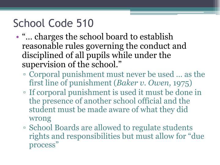 School Code 510