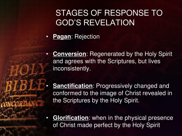 STAGES OF RESPONSE TO GOD'S REVELATION