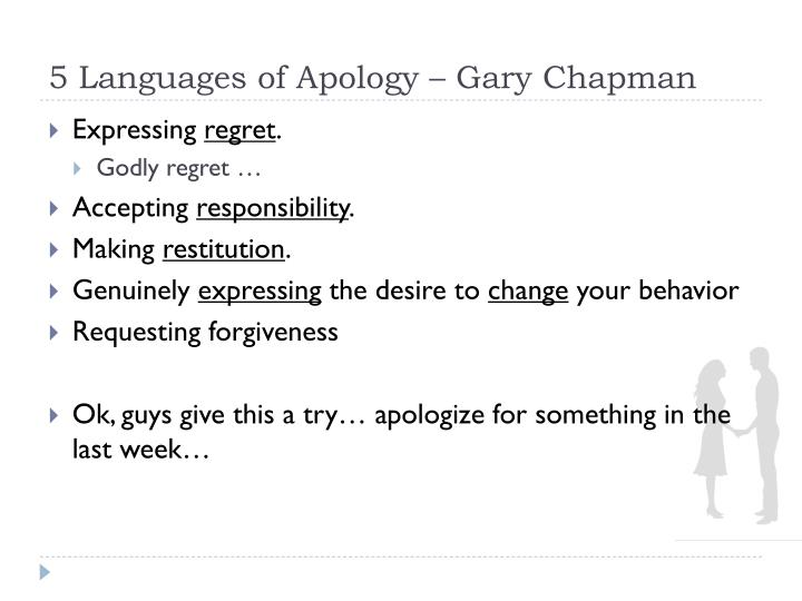 5 Languages of Apology – Gary Chapman