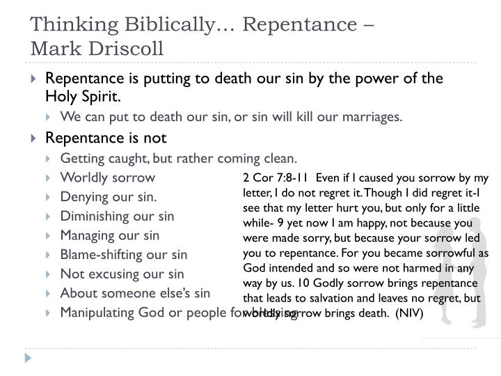 Thinking biblically repentance mark driscoll