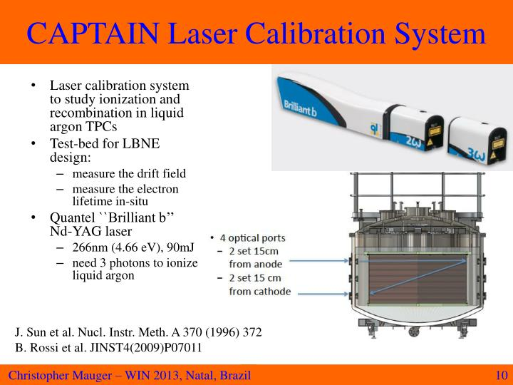 CAPTAIN Laser Calibration System
