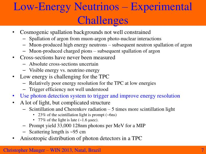 Low-Energy Neutrinos – Experimental Challenges