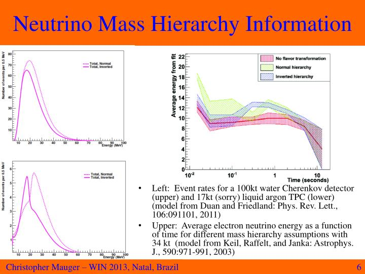 Neutrino Mass Hierarchy Information