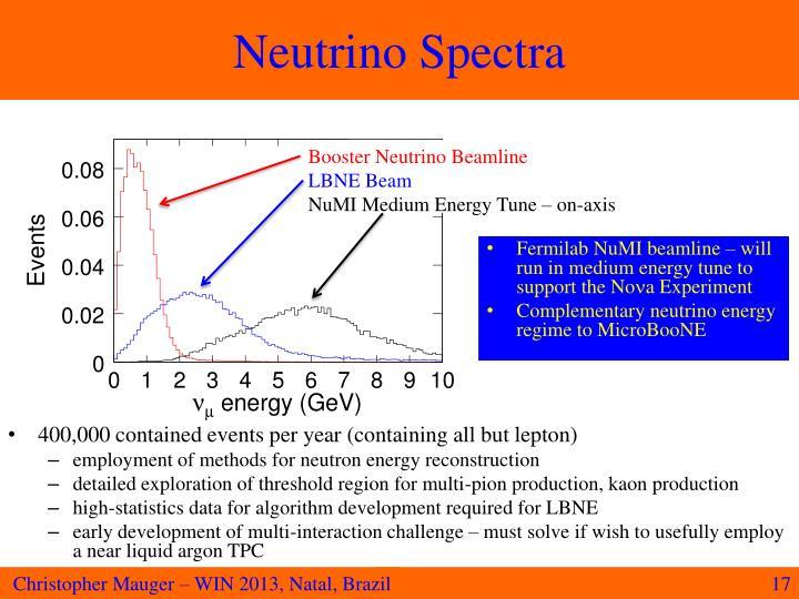 Neutrino Spectra