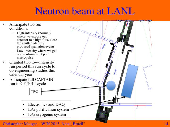 Neutron beam at LANL