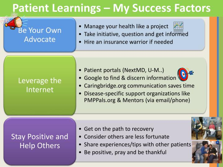 Patient Learnings – My Success