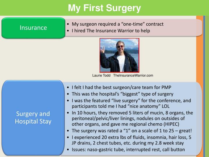My First Surgery