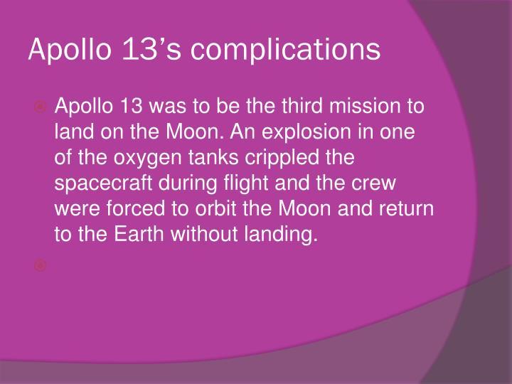 Apollo 13's complications