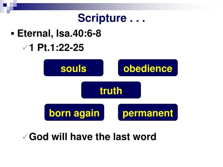 Scripture . . .