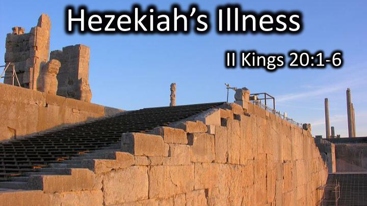 Hezekiah's Illness
