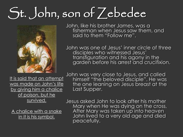 St. John, son of Zebedee