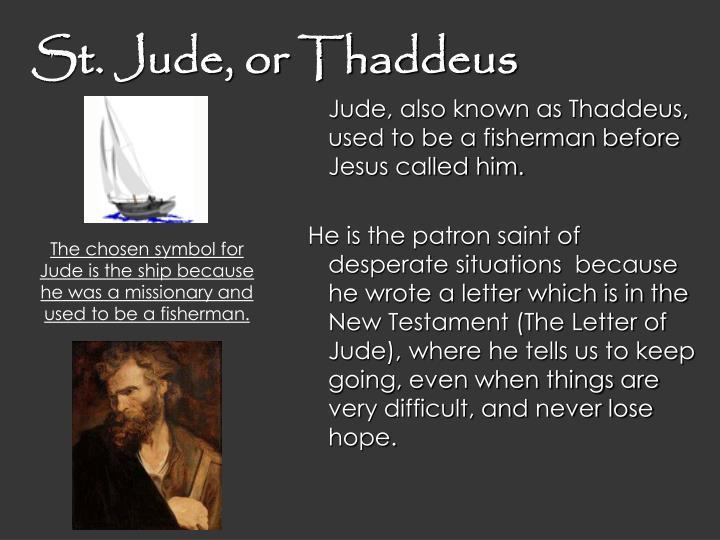 St. Jude, or Thaddeus