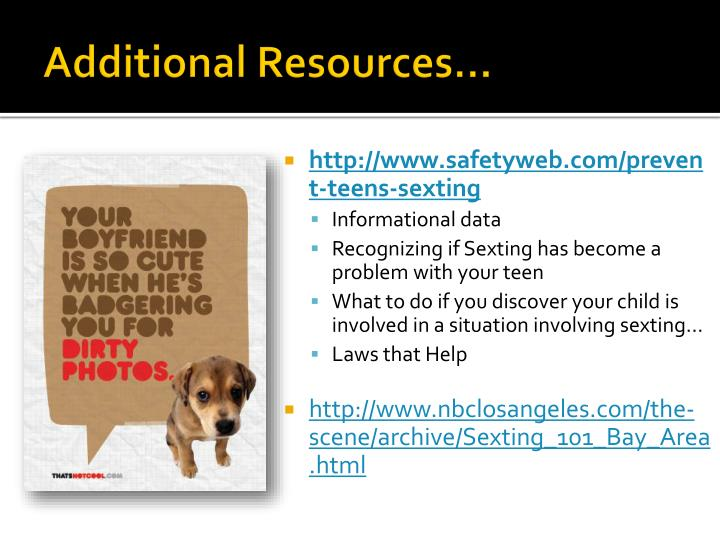 Additional Resources…