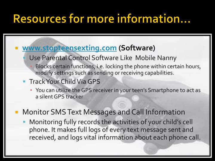 Resources for more information…