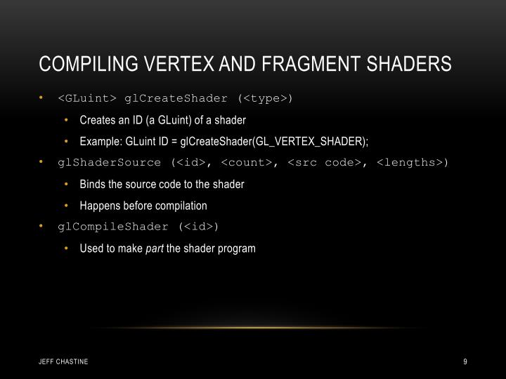 Compiling Vertex and Fragment