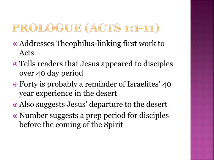 Prologue (acts 1:1-11)