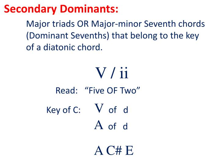 Secondary Dominants:
