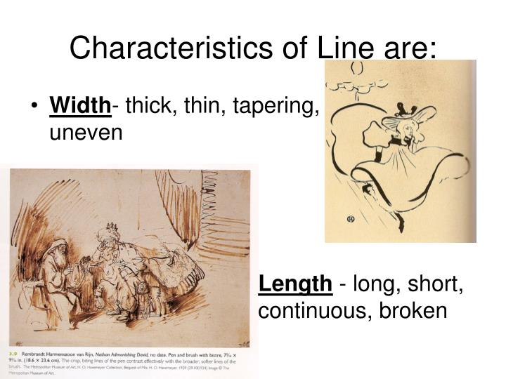 Characteristics Of Line In Art : Ppt elements and principles of design powerpoint