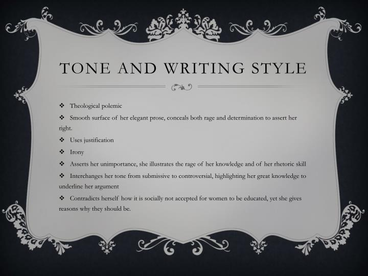 Tone and Writing style
