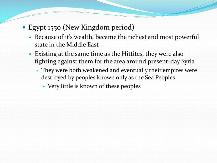 Egypt 1550 (New Kingdom period)