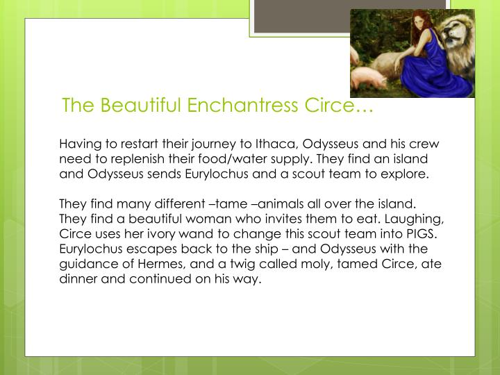 The Beautiful Enchantress Circe…