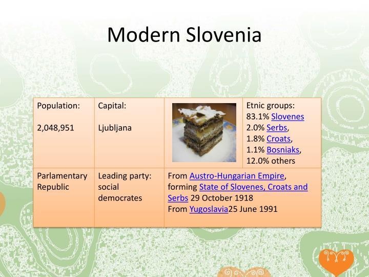 Modern Slovenia