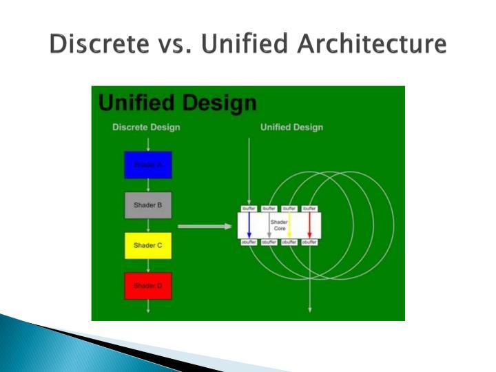 Discrete vs. Unified Architecture