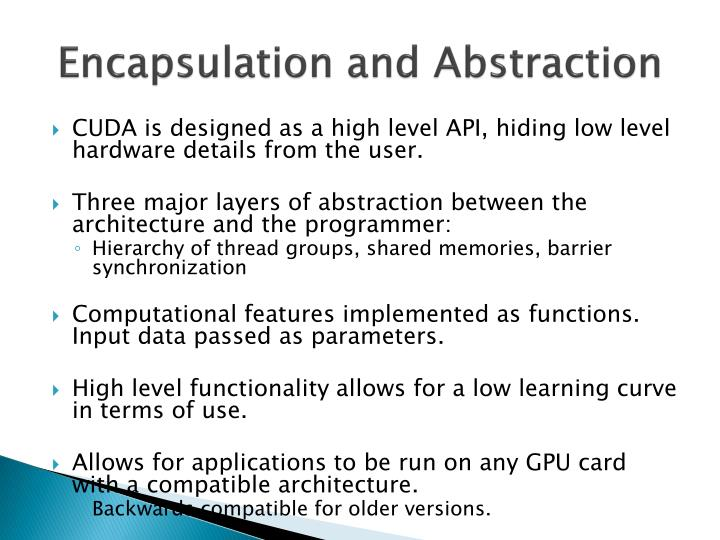 Encapsulation and Abstraction