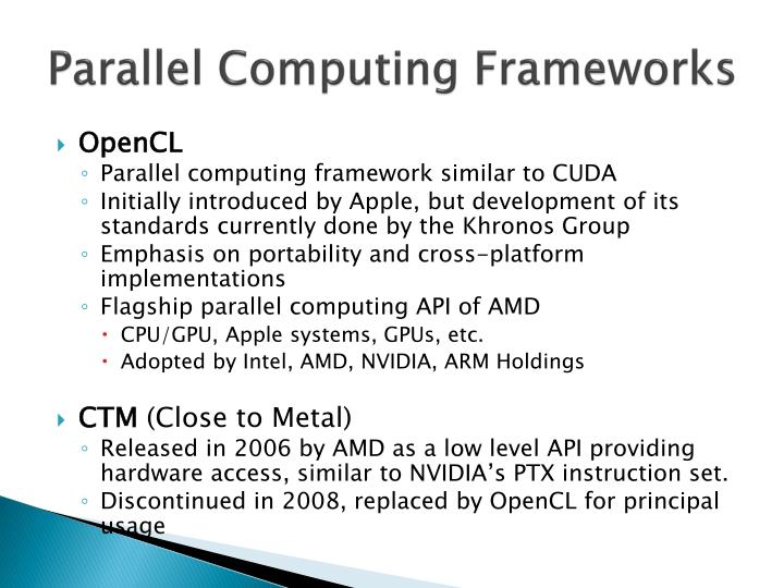 Parallel Computing Frameworks