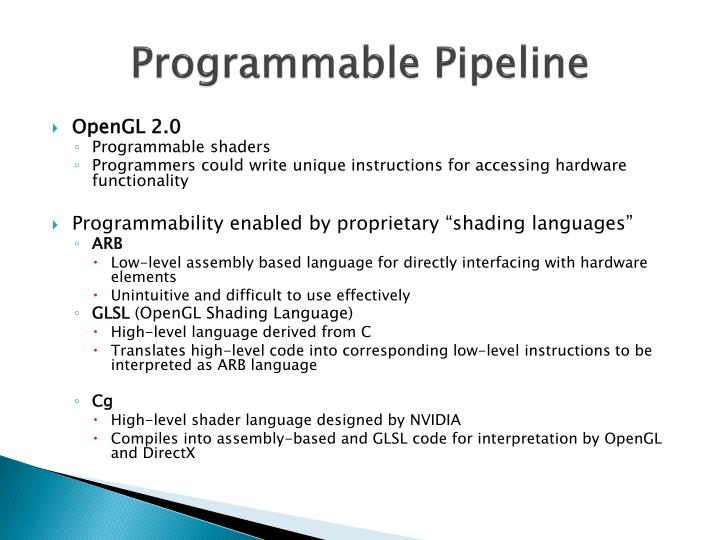 Programmable Pipeline
