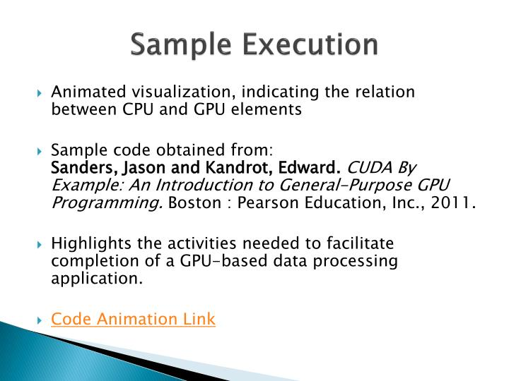 Sample Execution