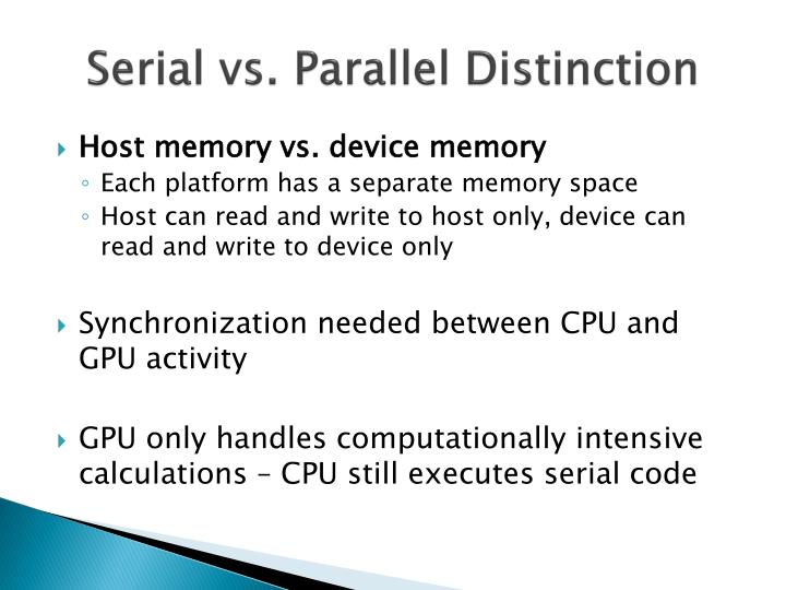 Serial vs. Parallel Distinction