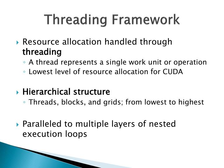 Threading Framework