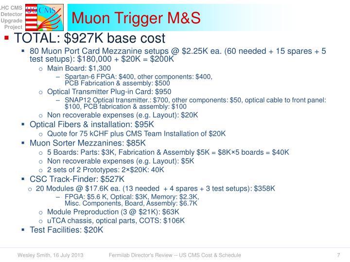 Muon Trigger M&S