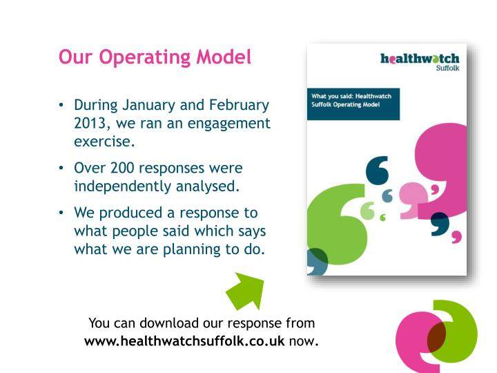 Our Operating Model